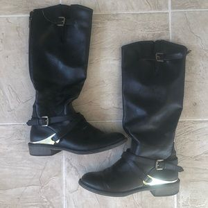 SM New York Black boots size 7